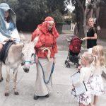 Donkey Re Enacting Nativity Scene