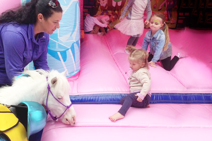 Pony By The Jumping Castle